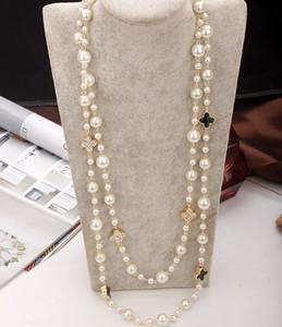 여성 우아한 파티 보석 더블 레이어 목걸이 n0320에 대한 Agood 고품질의 모조 진주 긴 목걸이