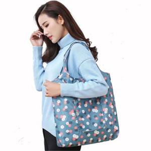 29 styles Foldable Shopping Bags floral printed Portable Waterproof Reusable Storage Bag Eco Friendly Shopping Bags Tote handbags KFJ876