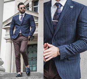 2020 Hot Sale Mens Suit Custom Made Grid Mens Wedding Suits Top Quality Dress Tuxedos Jacket+Pants Groomsmen Slim Fit Suits