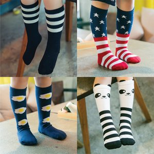 Bebés del calcetín de la rodilla alta de algodón lindo poco carácter rodilla pega Kid Ropa unisex del niño de arranque calcetines de dibujos animados