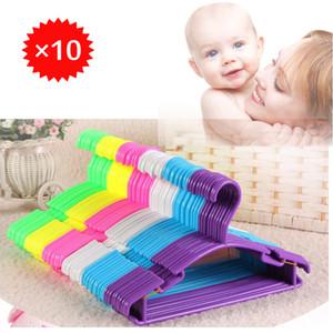 Liplasting 10Pcs / Lot ropa portátil destacan Percha para niños niños del niño del bebé ropa de abrigo perchas de plástico del hogar gancho