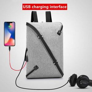 Personalidade adolescentes à prova d 'água mochila laptop tablet mochila Sacos De Estudante mochilas de grande capacidade Homens de viagem USB fone de ouvido porta saco de escola