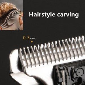 Kemei Триммер электрический машинка для стрижки волос парикмахерская Cordless 0mm T-лопастной Структуризатор Отделка лысый волос Cutter KM-1974a