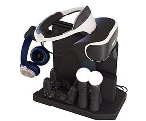 لPS4 VR 1/2 PS4 PS4 برو سليم PSVR عمودي حامل، وحدة تحكم شاحن محور الشحن عرض موقف الواجهة، مروحة تبريد تبريد