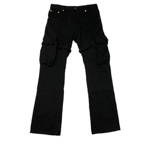 Mens Pants VUJADE CARGO FLARE PANTS Pocket Ribbon Overalls Micro Flare Pants TRAVIS Casual Fashion Fitness High Street