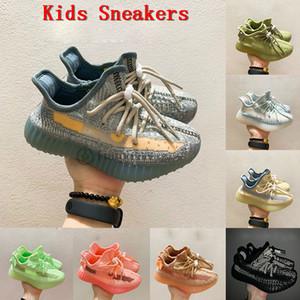 Adidas Yezzy 350 2020 Kanye enfants baskets Yecher noir chaussures de course réfléchissantes 380 v3 brume Alien 700 Alvah Azael enfant en bas âge enfant formateur