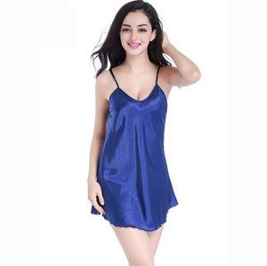 Летние новые женские пижамы Женские сексуальные спагетти ремень ночная рубашка плюс размер XXXL вискоза ночная рубашка короткий халат Платье Платье