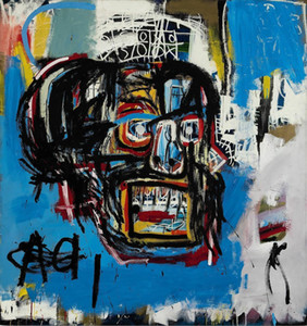 Jean-Michel Basquiat Untitled, 1982 Home Decor Handpainted HD Stampa pittura a olio su tela Wall Art Quadri Canvas 191119
