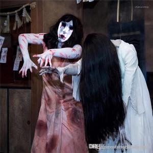 Disfraz Scary Designer Style Cosplay Ropa Festival Festival para mujer Ropa Casual Máscara Accesorios Halloween Vampiros Femenina Femenina Xqluk
