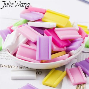 Julie Wang 10PCS Resina Bubble Gum Charms Colgantes Artificiales de Colores Colgantes Fabricación de Joyas Accesorio Home Phone Case Decor