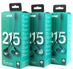 SE215 Earphons Hi fi a cancellazione di rumore 3.5MM SE 215 In orecchio detchable auricolari via cavo con la scatola Versione speciale 1pcs