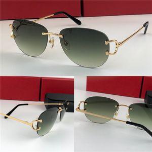 açık renk dekoratif gözlük 0102 UV400 En çok satan klasik güneş gözlüğü piccadilly çerçevesiz gözlük yuvarlak çerçeve Retro avangard tasarım