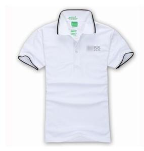 Venta caliente Diseñador Embroideryboss de alta calidad del verano de la solapa del polo camisa de algodón de los hombres de manga corta polo del deporte a rayas de moda casual polos de los hombres