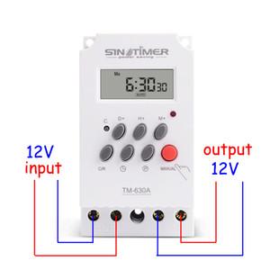 Pas cher Timers 12V DC Entrée 7 Jours MINI TIMER 24hrs INTERRUPTEUR programmable Temps de sortie relais de charge haute puissance 30A