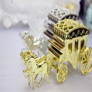Styles Europeu Romântico Carruagem Caixas Caixas de Casamento Do Carro Titular Do Favor Chocolate Caixas de Presente Caixas de Casamento Lembranças Para Decorações De Partido De Casamento