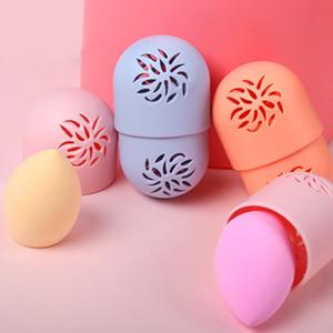 1PCS Силиконовых красоты Губка Коробка для хранения яйца Подставки пуховки Сушки Держателя Плесень Proof Косметического Puff косметичка аксессуаров