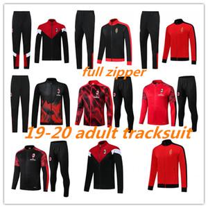 2019 2020 AC Milan взрослого костюма полного молния survetement куртки набор 100 лет 19 20 CALHANOGLU футбол куртки спортивной костюм