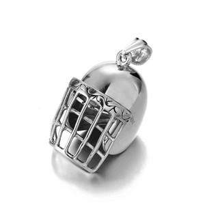 البيسبول خوذة قلادة 316l الفولاذ الصلب قلادة للبيسبول سلسلة سحر الهيب هوب مجوهرات أزياء الرجال التيتانيوم المقاوم