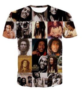 Yeni Moda Kadınlar / erkek T Shirt Reggae Bob Marley 3D Baskı Erkekler T-Shirt Rahat Erkekler T Gömlek Hip Hop Yaz RW0170 Tops