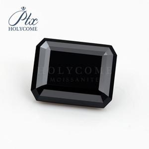 10x8mm esmeralda corte laboratório crescido de alta qualidade cor preta 4CT perder moissanite áspera diamante para fazer jóias