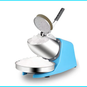 85KG H Electric Ice crusher shaver snow cone ice block making machine household commercial ice slush sand tea shop