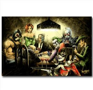 Escadrons de la mort DC Joker Harley Quinn, peinture sur toile, décoration de maison, peintures d'art / (sans cadre / avec cadre)