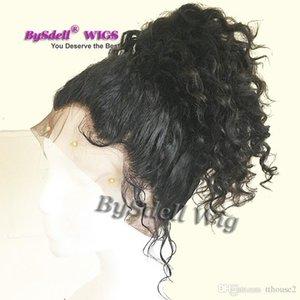 Prime naturel synthétique noir cheveux dentelle avant de dentelle pleine perruque résistant à la chaleur Kinky cheveux bouclés avant de dentelle perruques cheveux bébé