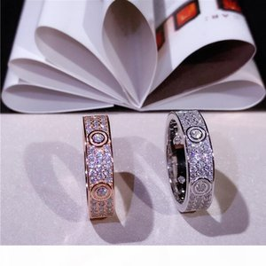 Choucong Unique Luxury Jewelry Pure 100% Soild 925 Sterling Silver Pave White Sapphire CZ Diamond Gemstones Circle Women Wedding Bridal Ring