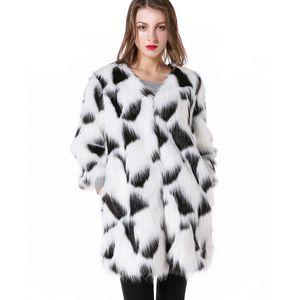 Zadorin 2019 nuevo diseñador blanco abrigo de piel sintética mujeres elegante abrigo de invierno largo chaqueta peluda manteau femme hiver abrigo mujer