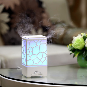 200ml Water Cube Colorful Lamps Aroma Essential Oil Diffuser USB Ultrasonic Air Humidifier Electric LED Lights Nebulizer Spa for Home Car