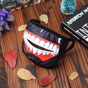 Tokyo Ghoul Kaneki Ken Horror Cosplay Halloween maschera di inverno cotone divertente Warm Mask Bocca anti-polvere viso con la chiusura lampo