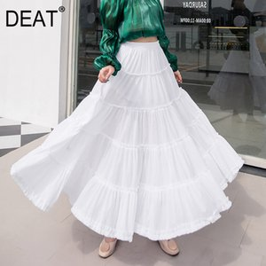 [DEAT] High Elastic Waist Pleated Solid Color Cake Brief Half-body Skirt Women Fashion Tide New Spring Summer 2020 13R853