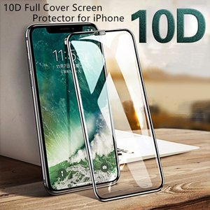 Thicken 10D Full Cover Screen Protector for iPhone 11 Pro XS Max XR 8 7 6 Plus Curved Edge Tempered Glass Retail Packing