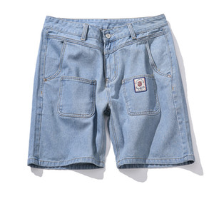 Mens Drsigner Short Jeans Light Color Large Size Loose Type Straight Summer New Fashionable Casual Japanese Style Shorts