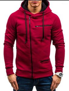 Zipper Accessori sottile casuale del cardigan con cerniera con cappuccio tuta sportiva di modo casual Abbigliamento Uomo Nuovo Autunno Inverno Mens Jackets Designer