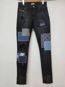 FALECTION 19FW USA FASHION CALIFORNIA AMIMIKE JAPAN PATCHWORK EMBROIDERED RIPPED JEANS