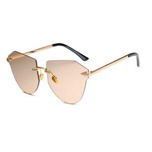 Polarizeds نظارات معدنية السهام بدون إطار الذهب النظارات الشمسية أزياء الأطفال السهم بدون إطار سهم بدون إطار سبورات قليلا R8dQos