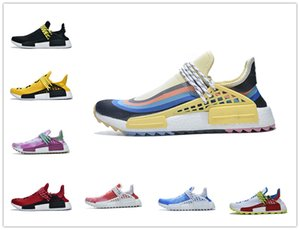 Cheap NMD Pharrell Williams Solar Pack Mother BBC Mens Womens Human Race Running Shoes Pale Nude Nerd Cream Stylist Sneakers With Box