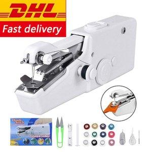 En reparaciones de envío libre de DHL portátil Mini máquina de coser portátil sin cable eléctrico del hogar de la puntada Herramienta para Quick bricolaje Home