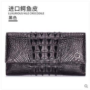 Гете 2019 новый импортный крокодиловая кожа сумочка женский тайский кожаный ужин сумка Сумочка Сиам Крокодил кошелек леди сумка женщины