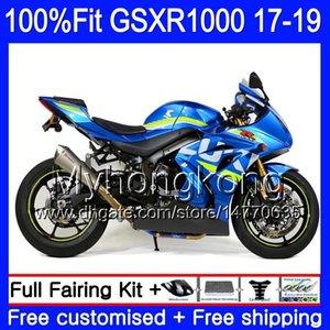 Injeção para o azul 2017 2018 2019 carenagens GSXR1000 K17 GSXR 1000 17 18 19 331HM.5 GSX R1000 L7 L8 GSXR1000 agradável Suzuki GSX-R1000 da