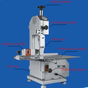 2020 Meat Band Saw Frozen Fish Cutting Machine Stainless Steel Commercial Meat Bone Catter 650W