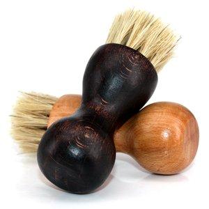 yuvarlak kıl parlatma Domuz saç fırçası ayakkabı yağ çok fonksiyonlu küçük süpürme ahşap mini ev idare kabak