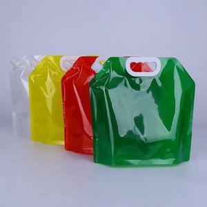 Grande capacité sac eau pliage extérieur sac de stockage d'eau d'urgence Voyage camping, randonnée sac portable étanche 5 couleurs ZZA945