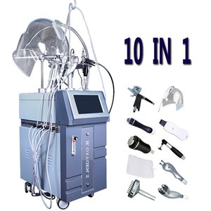 10 IN 1 Oxigênio Água Therapy Hydra Facial Pele Hidro Jet Microdermoabrasão Peel Dermabrasion Acne cicatriz tratamento Hidro Equipamento Resurfacing