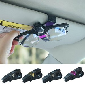 Clips fibra del carbonio dell'automobile Occhiali da sole clip Card Holders auto carta Accessori Sd-1305