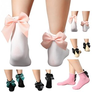 Women Lady Bowknot Decoration Free Size Breathable Cotton Socks for Winter