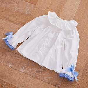9sswr Baby girl long-sleeved shirt with bowknot Butterfly clothing fashionable style 1-3 years old children's dress with 2020 children's wea