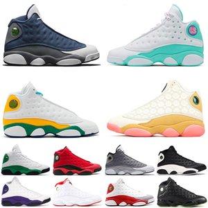 Air jordan retro 13 De archivo X 13 13s hombres zapatos de baloncesto inversa Una mala jugada Chicago criado Flint patio sucio Bred deportes dinero Pure zapatilla de deporte 36-47
