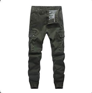 2020 New Fashion Pants Men Trousers Jogger Zipper Green Blue Cargo Pants Joggers Plus Size 30-40
